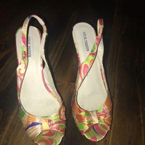 Steve Madden sling back heels size 10